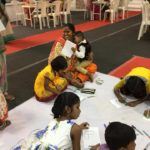 Sharon and friends meeting the sponsored children in Chennai